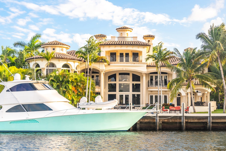 luxurious waterfront villa