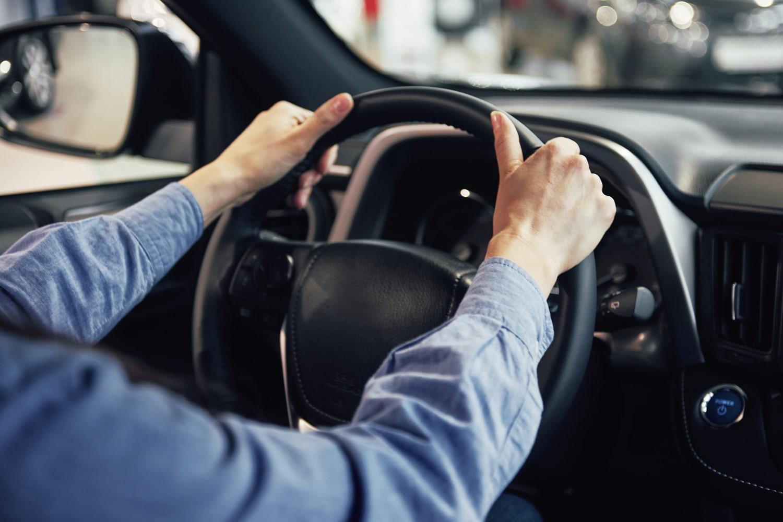 preparing to drive a rental car