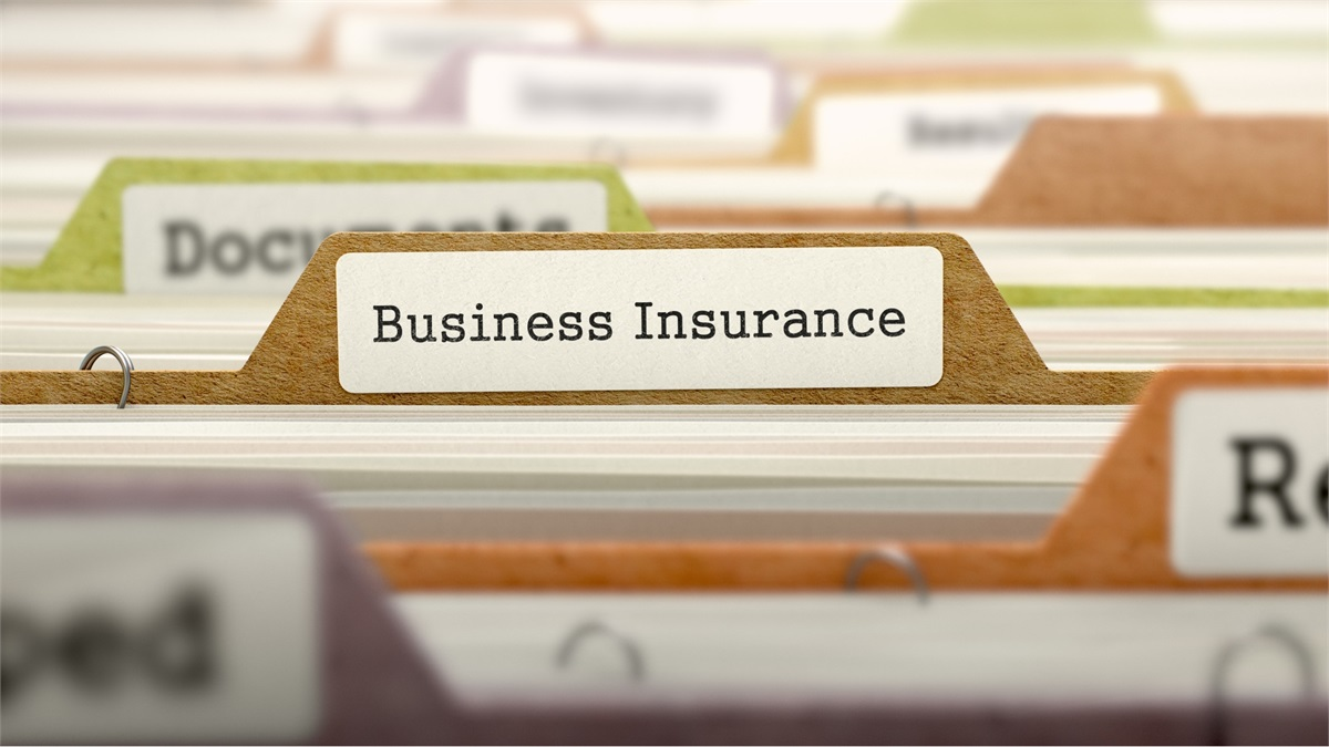 Business Insurance Folder in Filing Cabinet