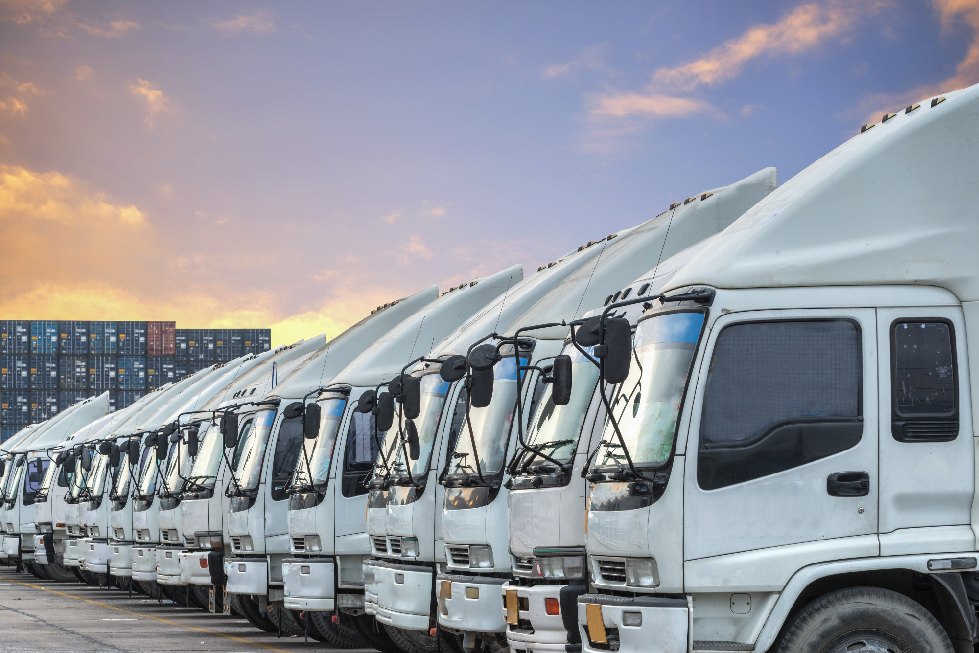a fleet of delivery trucks