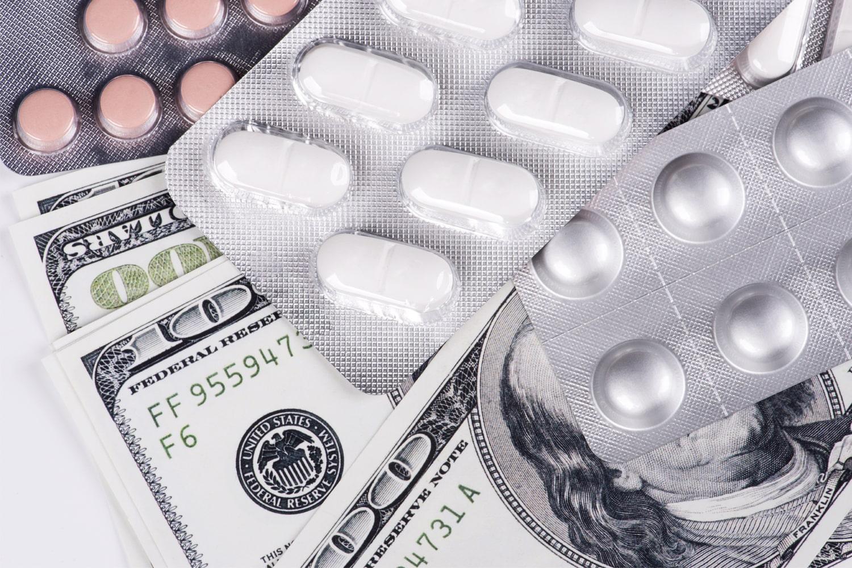 medicine and cash