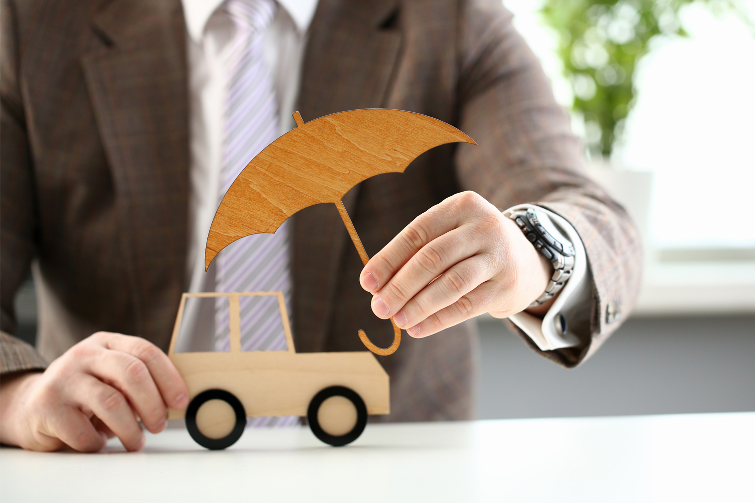 Personal Umbrella Insurance Concept for Drivers