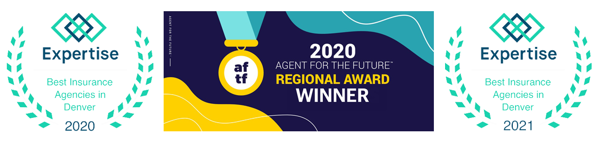 badges for best insurance 2020, 2021 and and agent for the future award 2020