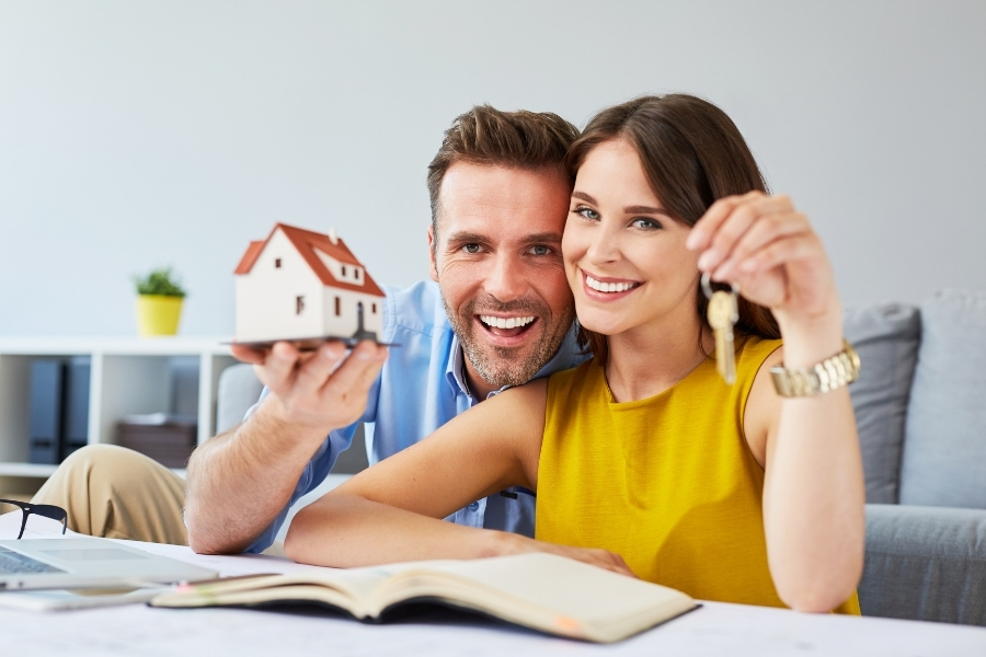 couple buying or renting a house