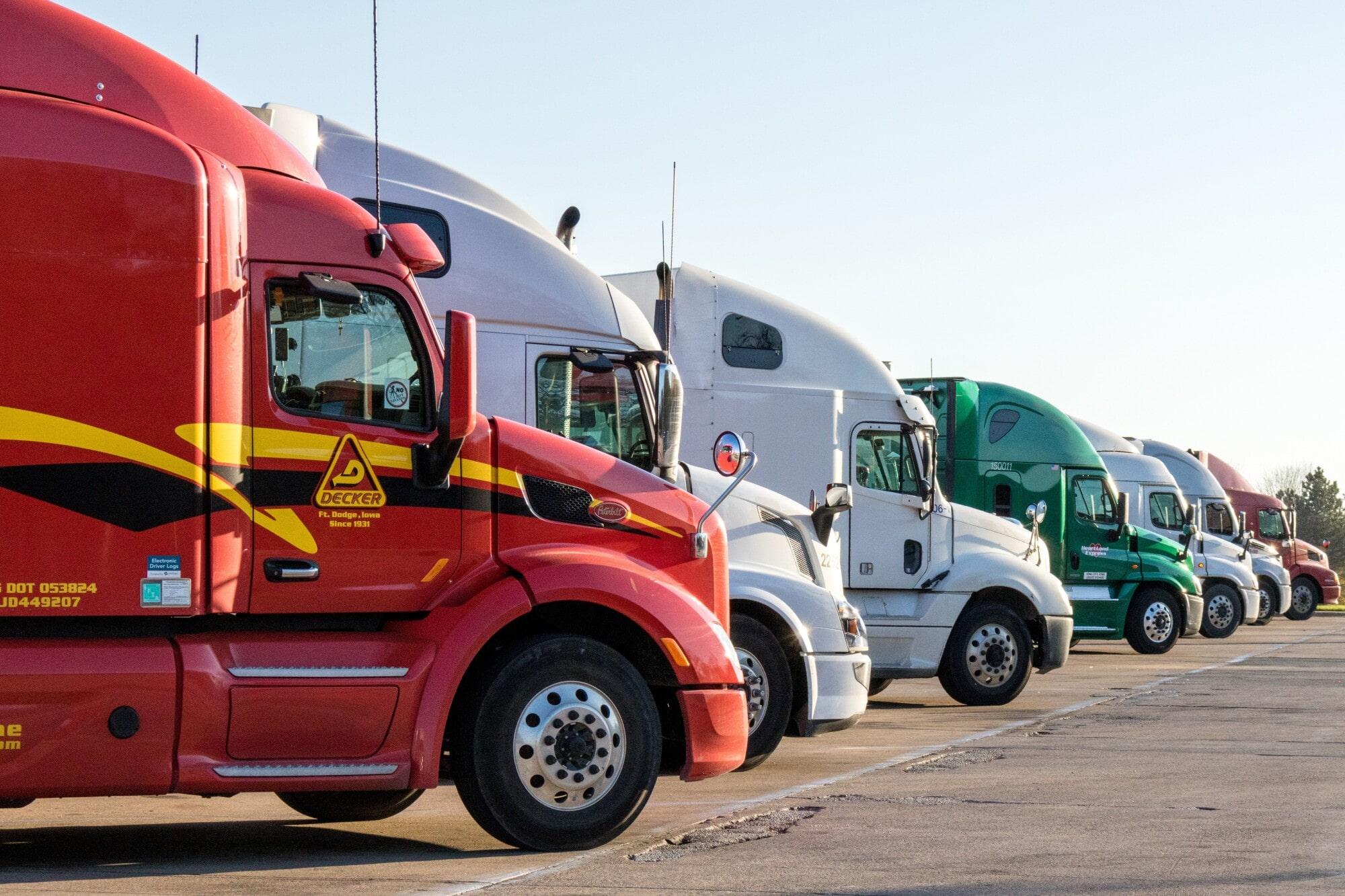 lined up fleet