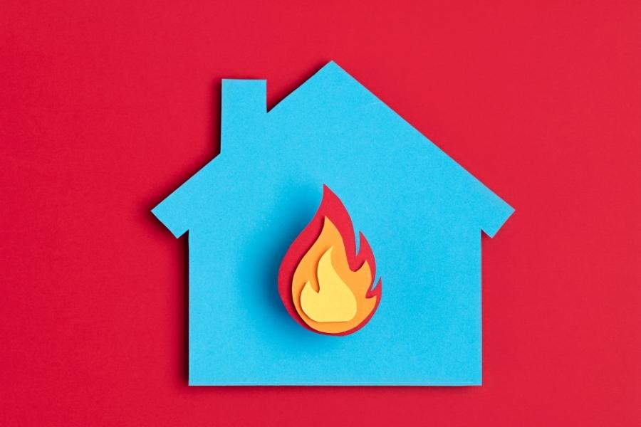 house fire paper concept